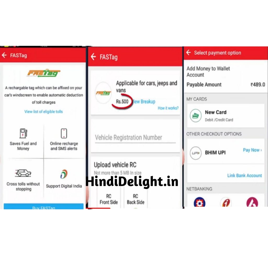 Airtel fastag recharge steps online